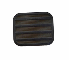 Brake or clutch pedal pad  square black  offset mounting stud %281%29